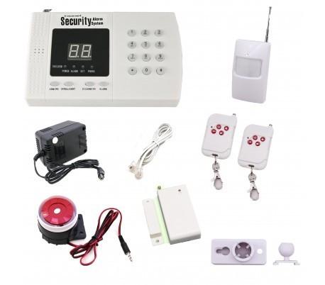 Sistema di allarme casa ufficio garage antifurto wireless senza fili combinatore telefonico sirena - Allarme per casa senza fili ...