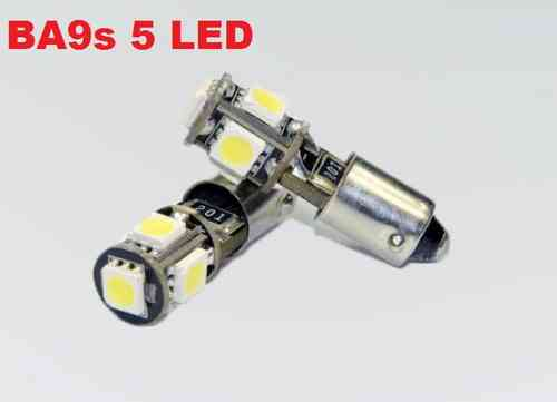 Lampadina Luci Di Posizione : Coppia lampade di posizione led ba9s canbus 5 smd bianco ghiaccio no