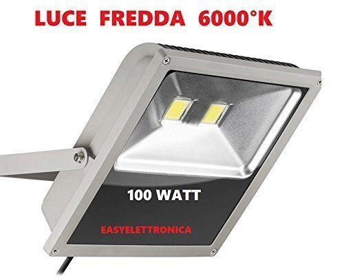 Fari Led Per Interni.Faro Led Ultra Slim Ip66 100 Watt Luce Fredda 6000 K Faretto
